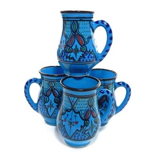 Set of 4 Sabrine Design 16-oz Mugs (Tunisia)