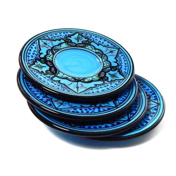 Set of 4 Sabrine Design 3-inch Square Sauce Dishes (Tunisia)