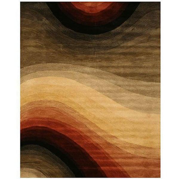 EORC Hand-tufted Wool Multi Desertland Rug (7'9 x 9'9)