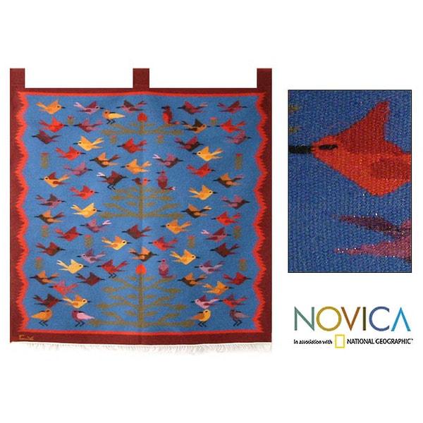 Alpaca 'Ayacucho Spring' Wool Tapestry (Peru)