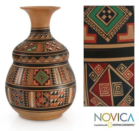 Cuzco 'Earthen Wisdom' Vase (Peru)