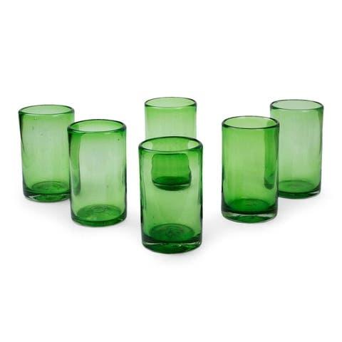 Highball Emerald Green Glasses Set of 6