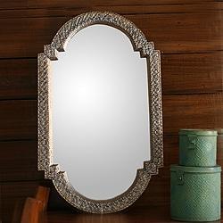 Handmade Metallic Mango Wood Palace Window Wall Mirror (India)