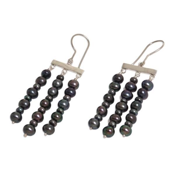 Iridescent Chimes Chandelier Earrings