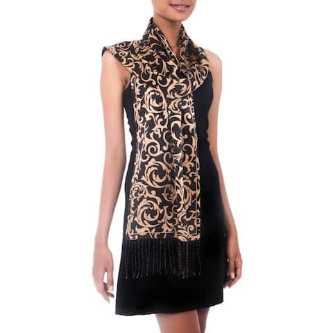 Silk Nocturnal Royale Batik Scarf