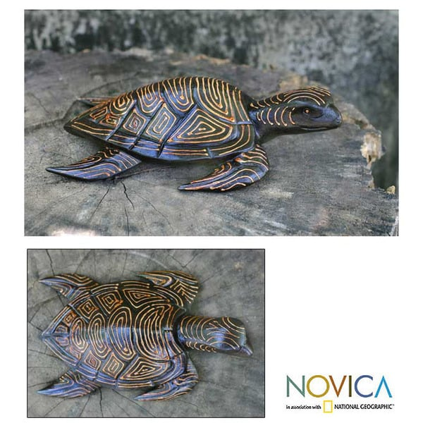 Wood 'Sea Turtle' Statuette (Indonesia)