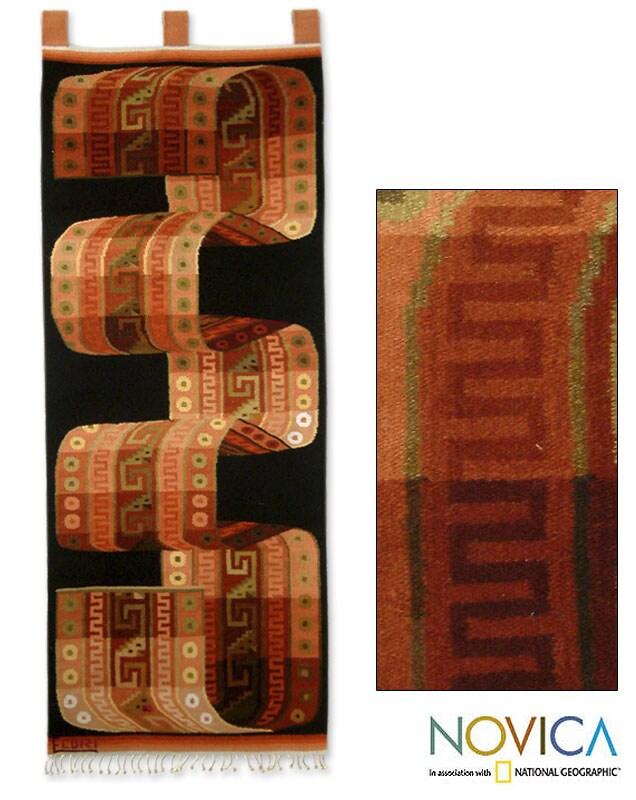 Wool 'Inca Belt' Tapestry (Peru)