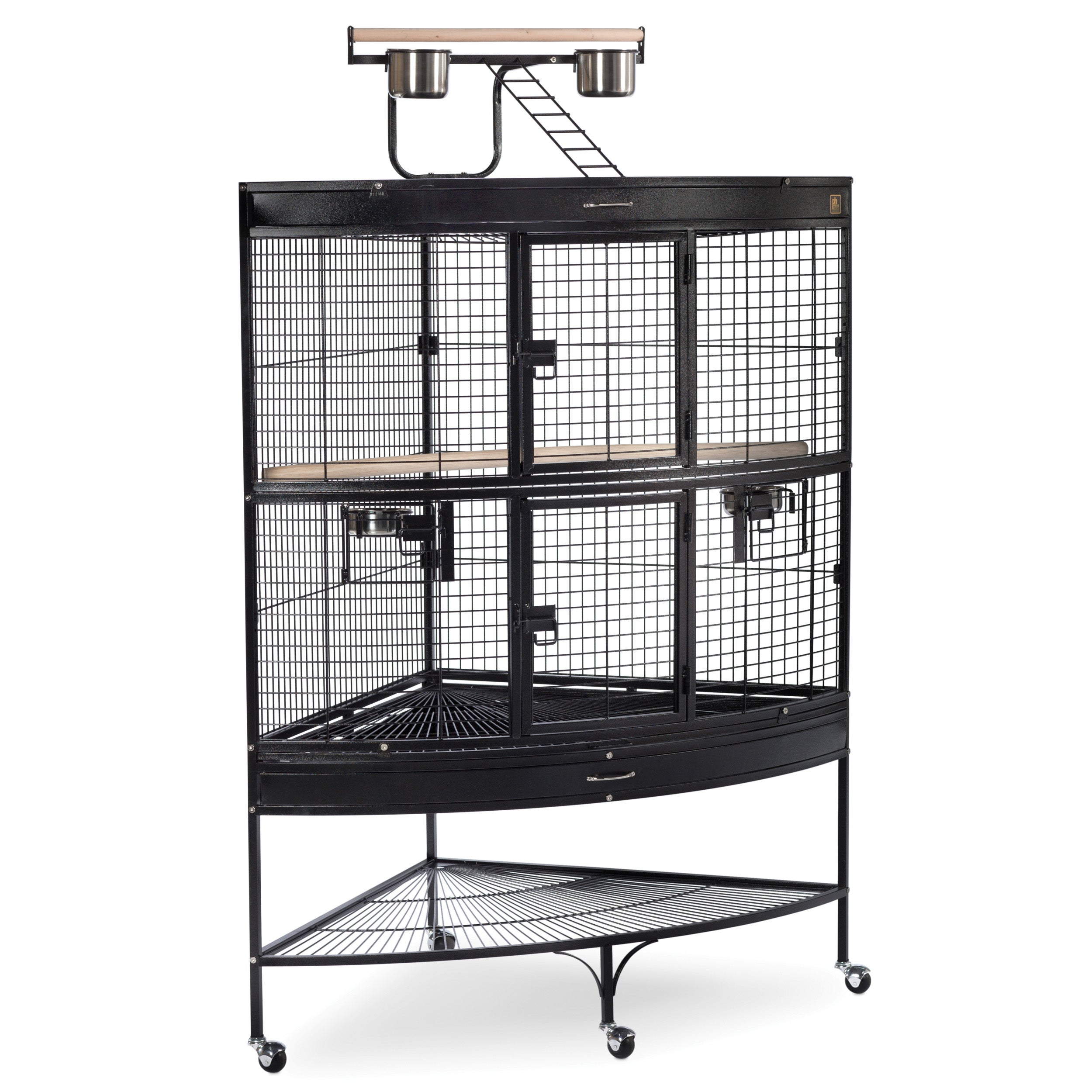 Prevue Pet Products Large Corner Bird Cage 3158BLK Black ...