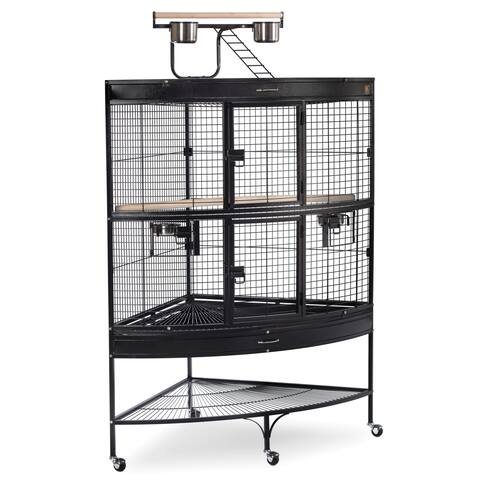 Prevue Pet Products Large Corner Bird Cage 3158BLK Black - N/A