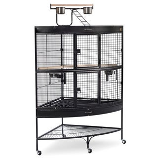 Prevue Pet Products 3158BLK Black Wire Large Corner Bird Cage