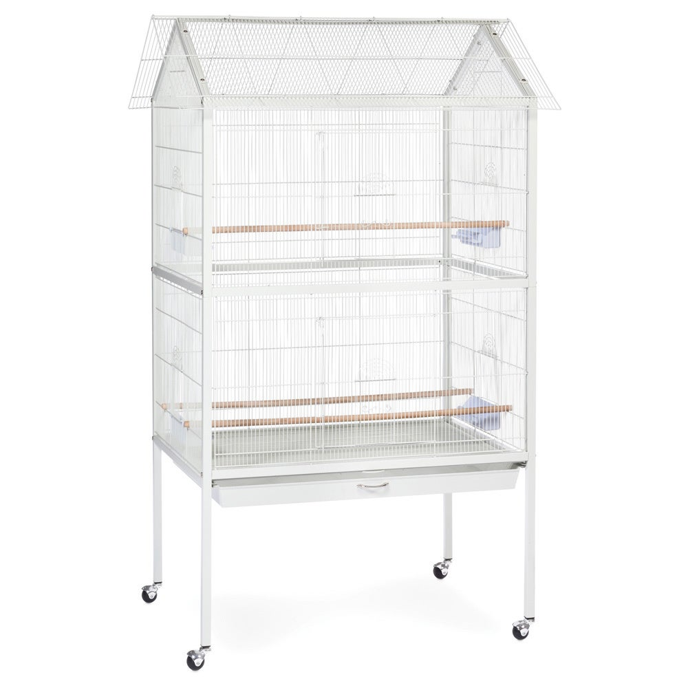 Prevue Pet Products Aviary Flight Cage with Stand F030 Wh...