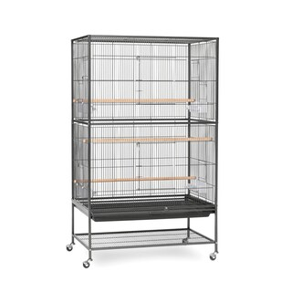 Prevue Pet Products Wrought Iron Flight Cage and Stand (Option: Black Iron)