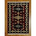 Herat Oriental Indo Hand-knotted Kazak Wool Rug - 2' x 3'