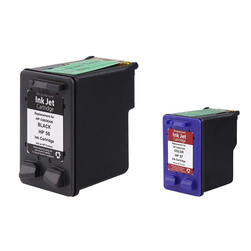 Eforcity Remanufactured) 2-pack 56 C6656AN Black & For HP...