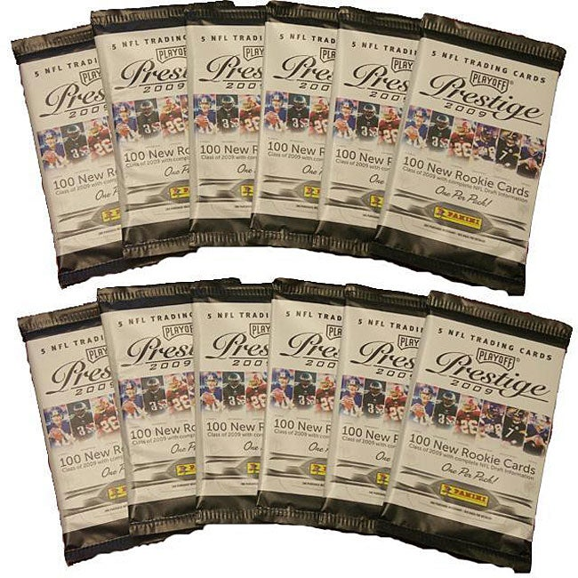 NFL Playoff Prestige 2009 12-pack Trading Cards