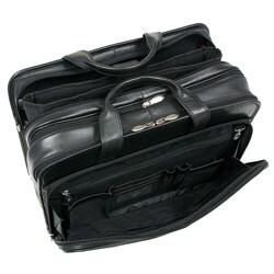 McKlein Walton Leather Double Compartment 17-inch Laptop Briefcase