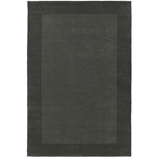 Hand-tufted Grey Border Wool Rug (5' x 8')