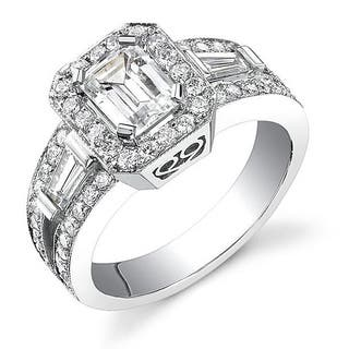 18k White Gold 2 1/8ct TDW Certified Emerald Cut Diamond Ring (I, SI1)|https://ak1.ostkcdn.com/images/products/4126740/P12132438.jpg?impolicy=medium