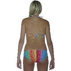 Island World Women's Tie-dye Peace Triangle Pucker Bikini - Thumbnail 1