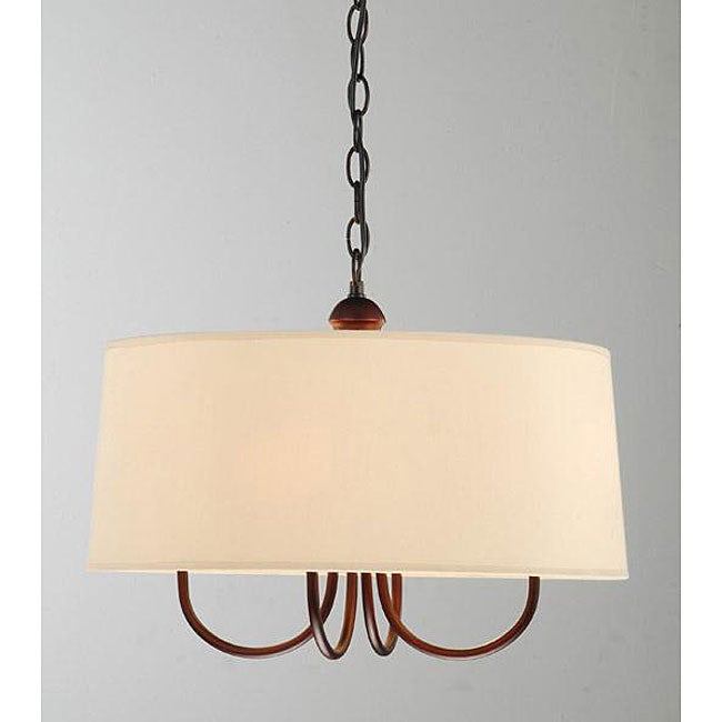 Indoor 4-light Antique Copper Chandelier - Thumbnail 0