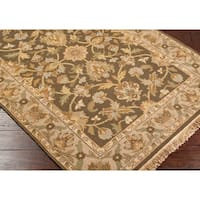 Hand-knotted Soumek Wool Area Rug - 2'6 x 10'