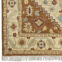 Hand-knotted Legacy Beige Wool Rug (2'6 x 10)