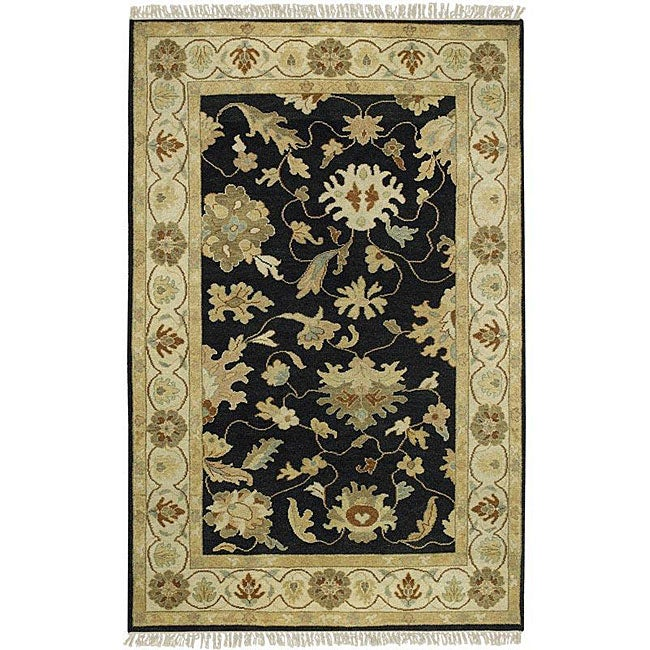 Hand-knotted Black Wool Legacy Runner (2'6 x 10)