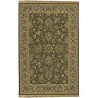 Hand-knotted Soumek Brown Wool Area Rug (4' x 6')