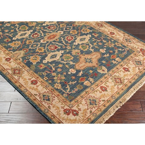 Hand-knotted Wool Area Rug - 4' x 10'