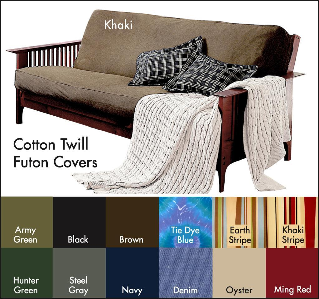 Brushed Cotton Twill Futon Cover