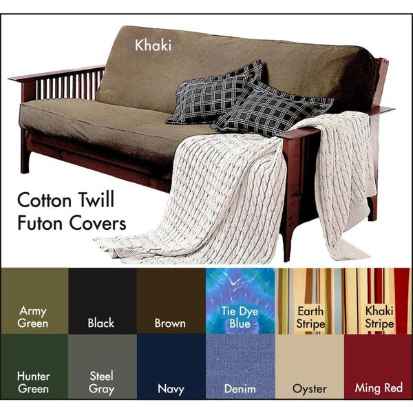 Brushed Cotton Twill Futon Cover Free Shipping On Orders Over
