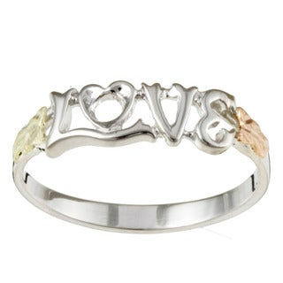 Black Hills Gold and Sterling Silver LOVE Ring