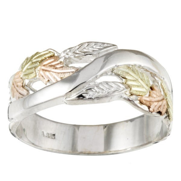 Black HIlls Gold and Sterling Silver Mens Band