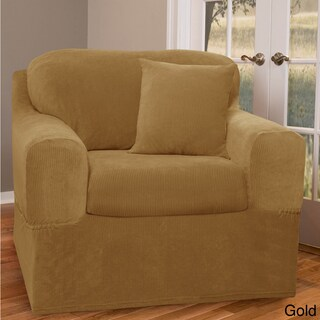 Maytex Collin 2-piece Chair Slipcover (Option: Gold)