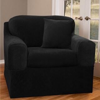 Maytex Collin Stretch Pinstripe 2 Piece Chair Furniture Slipcover