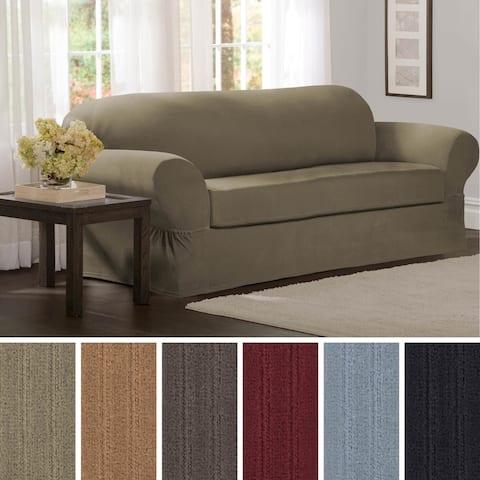 "Maytex Collin 2-Piece Sofa Slipcover - 74-96"" wide/34"" high/38"" deep"
