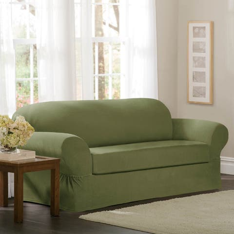 Buy Green Sofa Amp Couch Slipcovers Online At Overstock