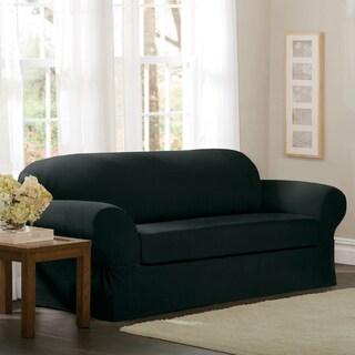 Maytex Collin 2-Piece Sofa Slipcover (Option: Black)