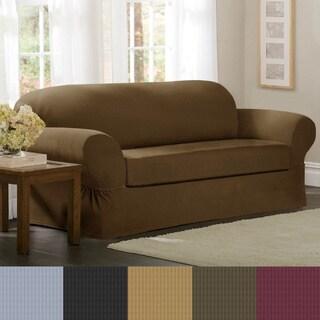 Maytex Collin 2-Piece Sofa Slipcover (Option: Gold)