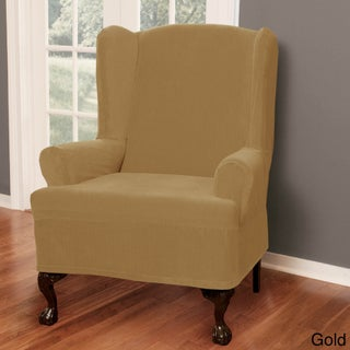 Maytex Collin Wing Chair Slipcover (Option: Gold)