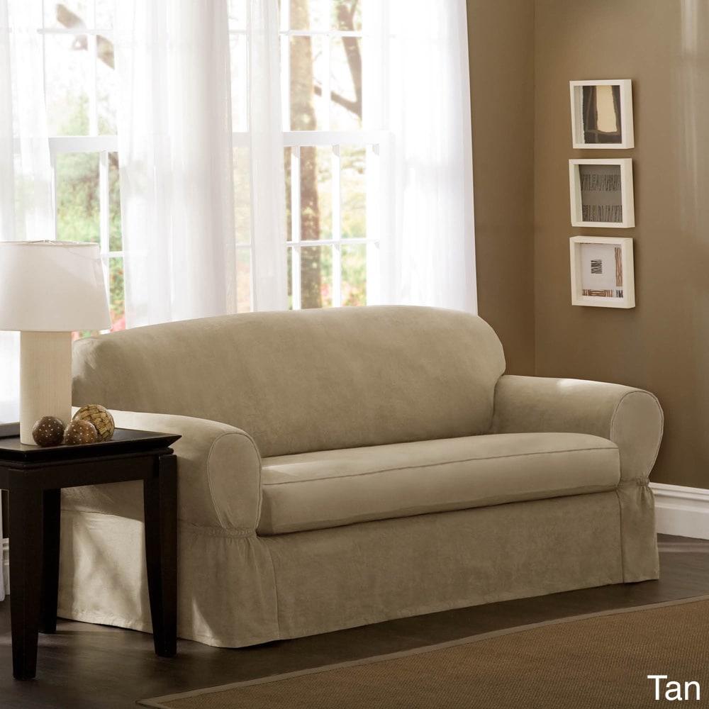 Maytex Faux Suede Sofa Slipcover