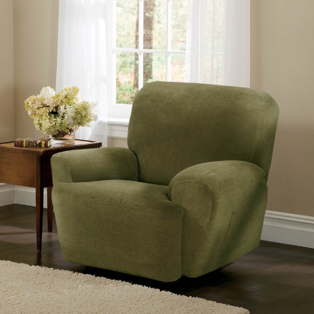 Maytex Collin Recliner Slipcover (Moss), Green (Solid)