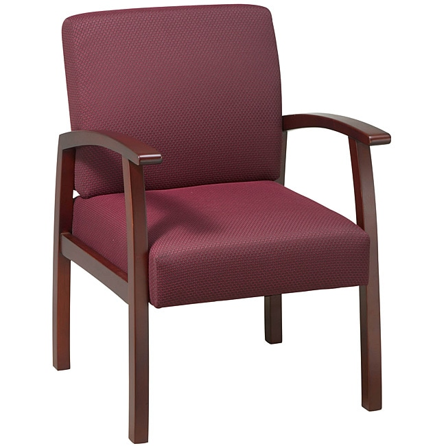 Office Star Ruby Fabric with Cherry Wood Guest Chair