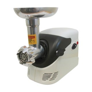 Weston #5 Deluxe Electric Meat Grinder with Shredder and Slicer Attachment