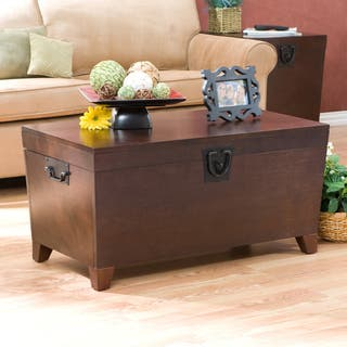 Harper Blvd Pyramid Espresso Trunk Cocktail Table Trunks Living Room Furniture For Less  Overstock com