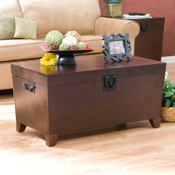 Harper Blvd Pyramid Espresso Trunk Cocktail Table