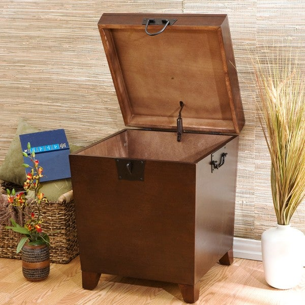 Harper Blvd Pyramid Espresso Trunk End Table Free Shipping Today