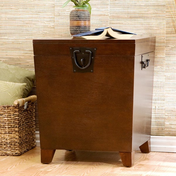 Harper Blvd Pyramid Espresso Trunk End Table