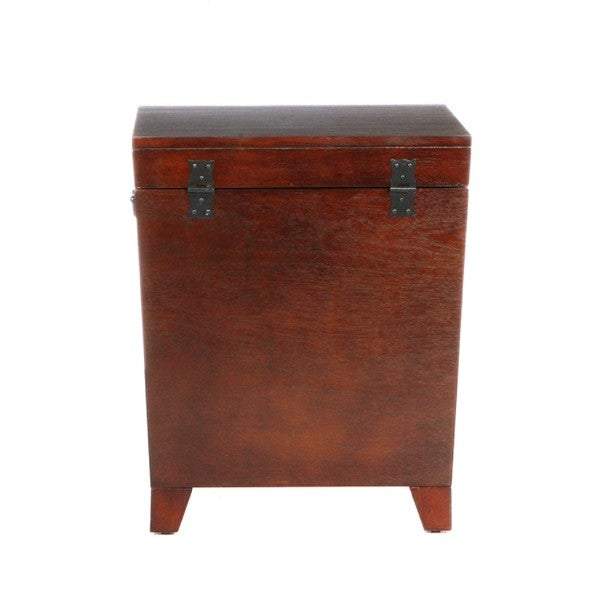 Harper Blvd Pyramid Espresso Trunk End Table   Free Shipping Today    Overstock.com   12135811
