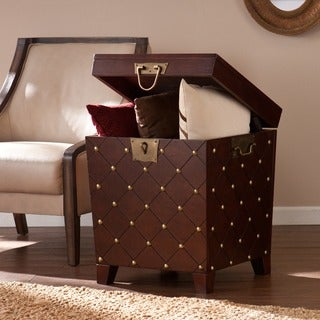 Clay Alder Home Hi-Line Nailhead Espresso End Table Trunk